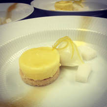 Lemon cream, sorbet and shortbread